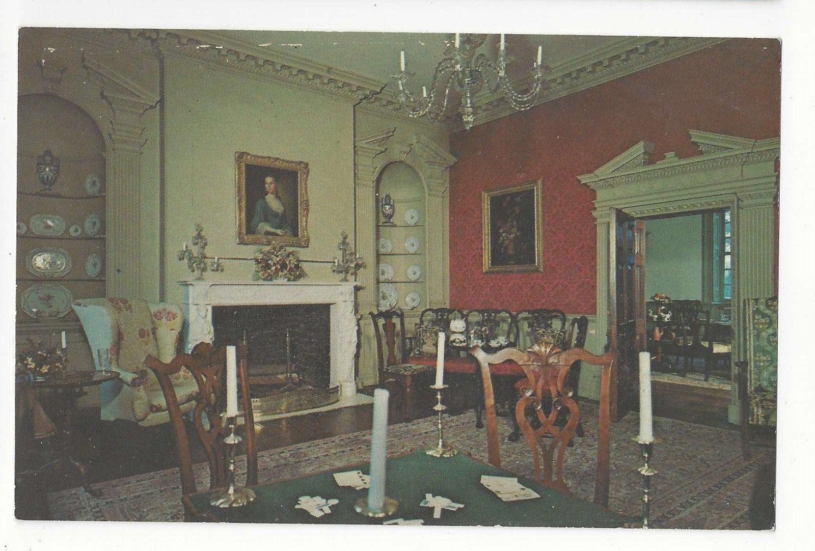 VA Lorton Gunston Hall Palladian Drawing Room Home of George Mason Vtg Postcard