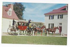 VA Mount Vernon Powel Horse Drawn Coach Vintage Postcard - $6.45
