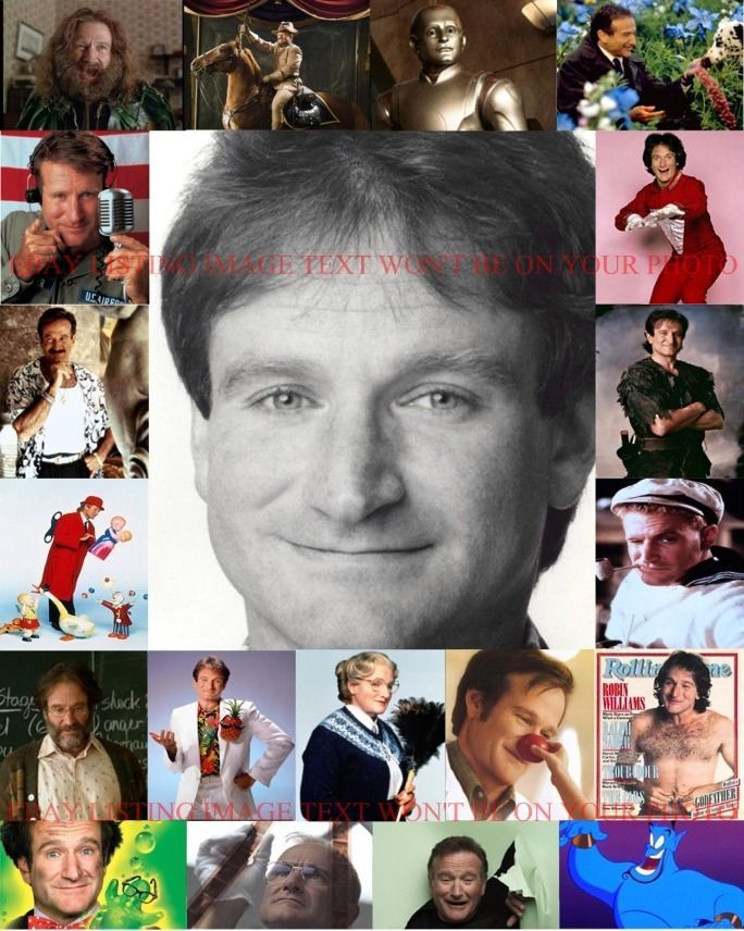 ROBIN WILLIAMS MOVIES AND TV CAREER COLLAGE 8x10 PHOTO MORK DOUBTFIRE MANY MORE
