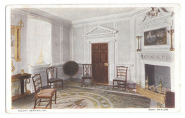 VA Mount Vernon West Parlor George Washingtons Home Vtg 1920 MVA Postcard - $4.99