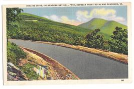 VA Skyline Drive Shenandoah National Park Front Royal Vtg Linen Postcard - $4.74