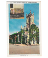VA Winchester Christ Episcopal Church Lord Fairfax Tomb Vtg Linen Postcard - $4.99