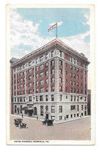 VA Norfolk Hotel Fairfax Cars Vtg Louis Kaufmann Postcard - $6.36