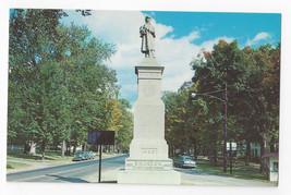 VT Brandon Vermont Soldiers Monument War Memorial Vintage Postcard - $4.74