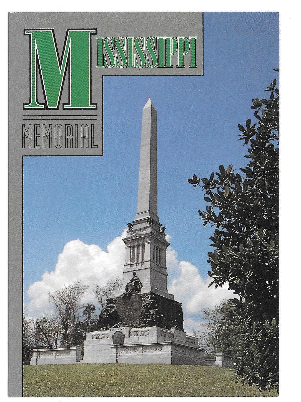 Vicksburg National Park Mississippi Memorial Vtg Postcard 4X6 MS