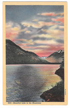 WA Beautiful Lake in the Mountains Vtg Curteich Linen Postcard Washington - $4.74