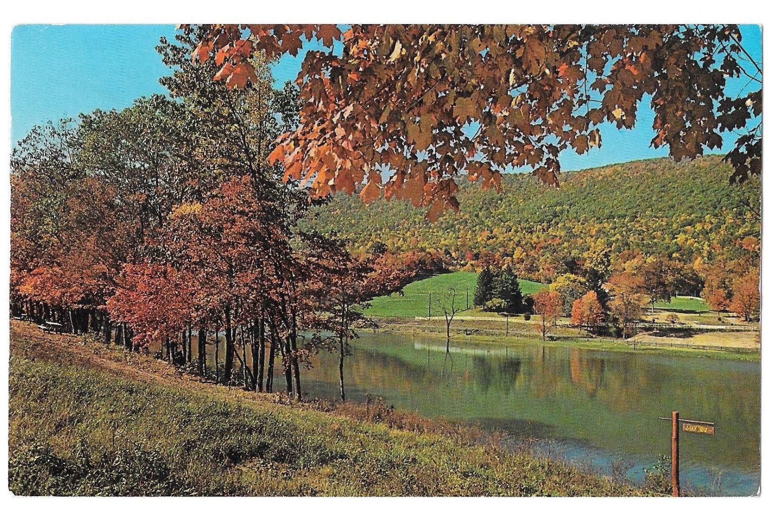 WV Coolfont Bereley Springs Lake Conference Center Vtg Postcard 1979