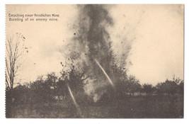 WWI German Vintage Postcard Bursting an Enemy Mine 1918 - $4.74