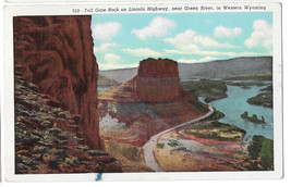 WY Green River Toll Gate Rock Lincoln Highway Vtg Sanborn Postcard Wyoming - $4.74