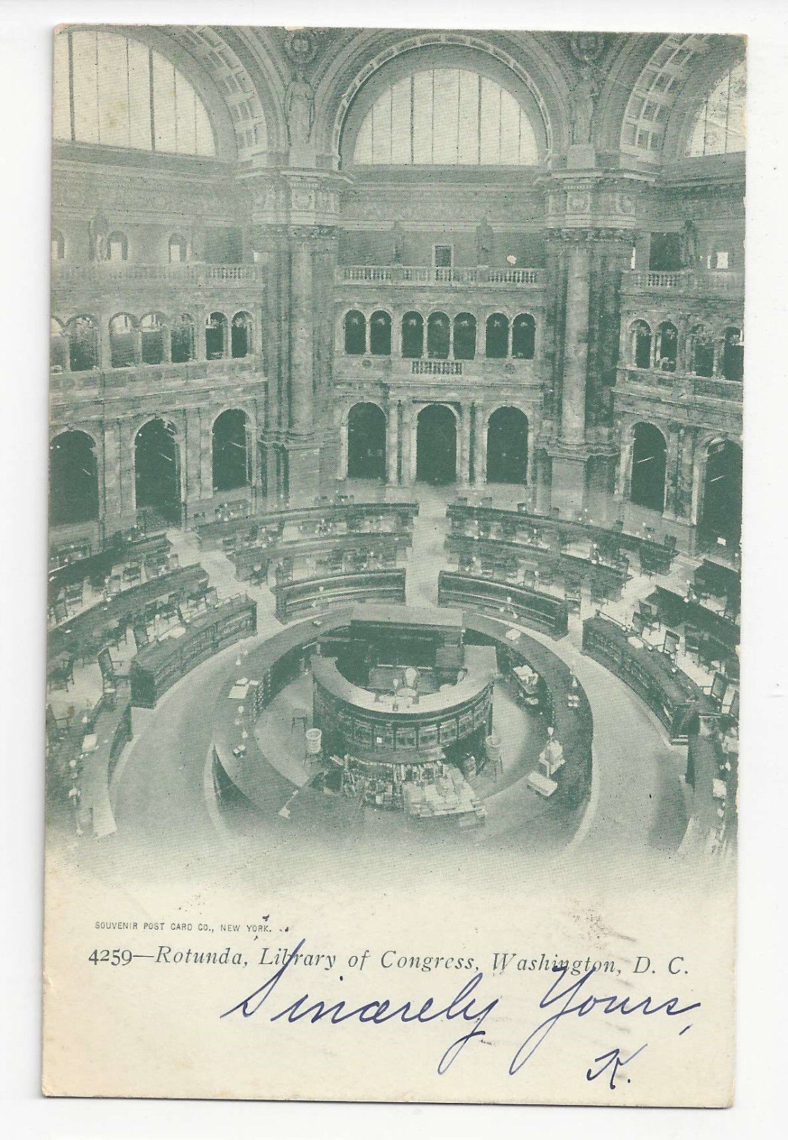 Primary image for Washington DC Library of Congress Rotunda Vtg UDB Postcard 1905