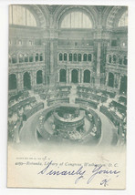 Washington DC Library of Congress Rotunda Vtg UDB Postcard 1905 - $6.36