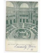 Washington DC Library of Congress Rotunda Vtg UDB Postcard 1905 - $6.36