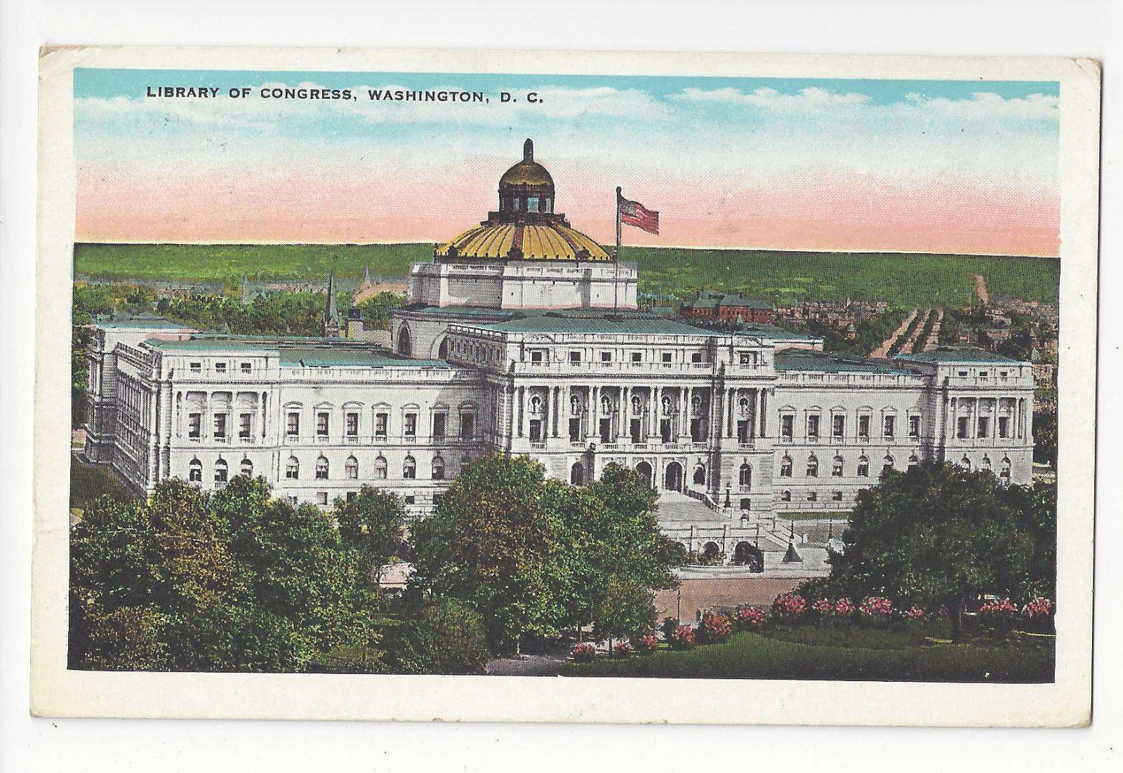 Washington DC Library of Congress Vtg Garrison Toy & Novelty Postcard 1931