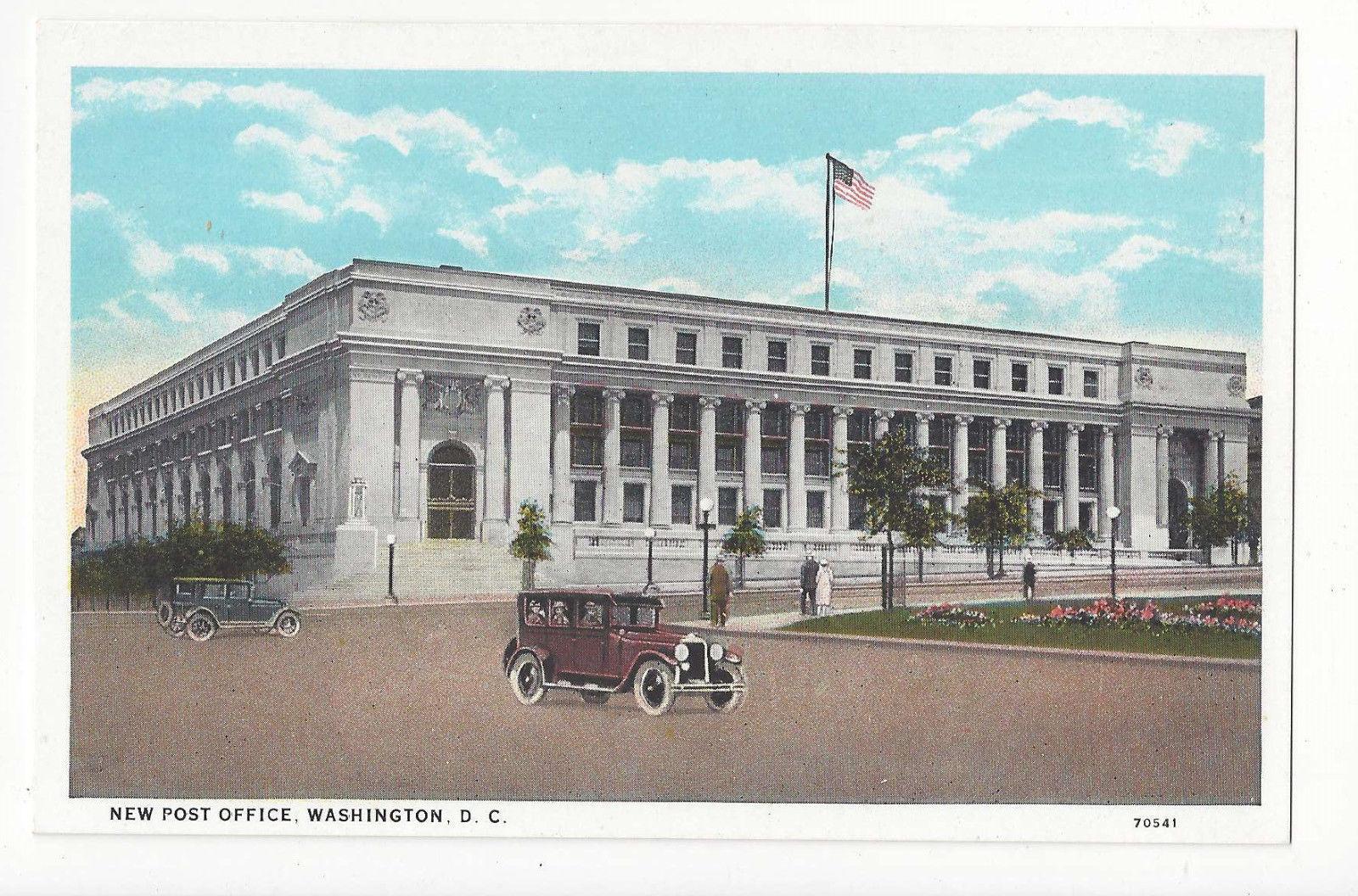 Washington DC New Post Office Car Vtg BS Reynolds Postcard