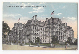 Washington DC State War and Navy Building Vtg WB Garrison Postcard - $6.45