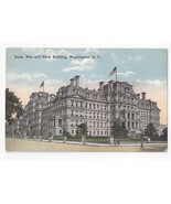 Washington DC State War and Navy Building Vtg WB Garrison Postcard - $6.45
