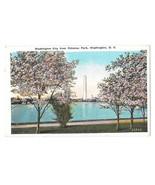 Washington DC Washington Monument Potomac Park Cherry Blossoms Vtg Postcard - $6.17