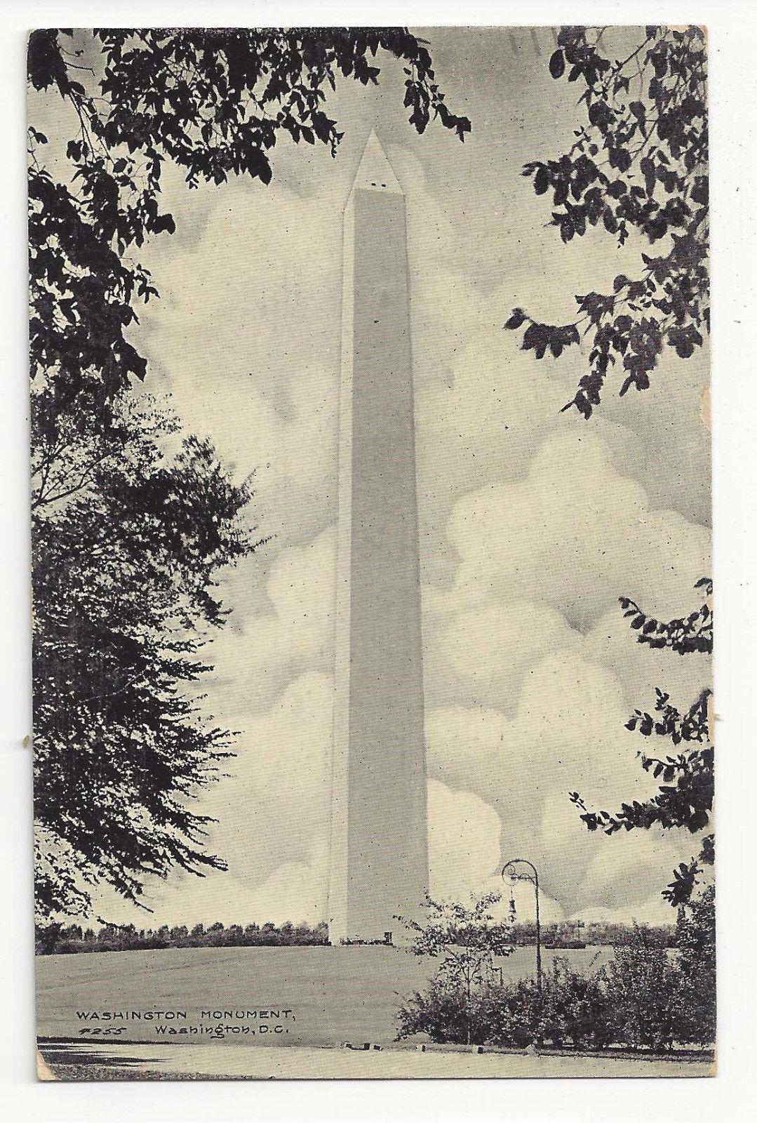 Washington DC Washington Monument Vtg  Postcard 1908
