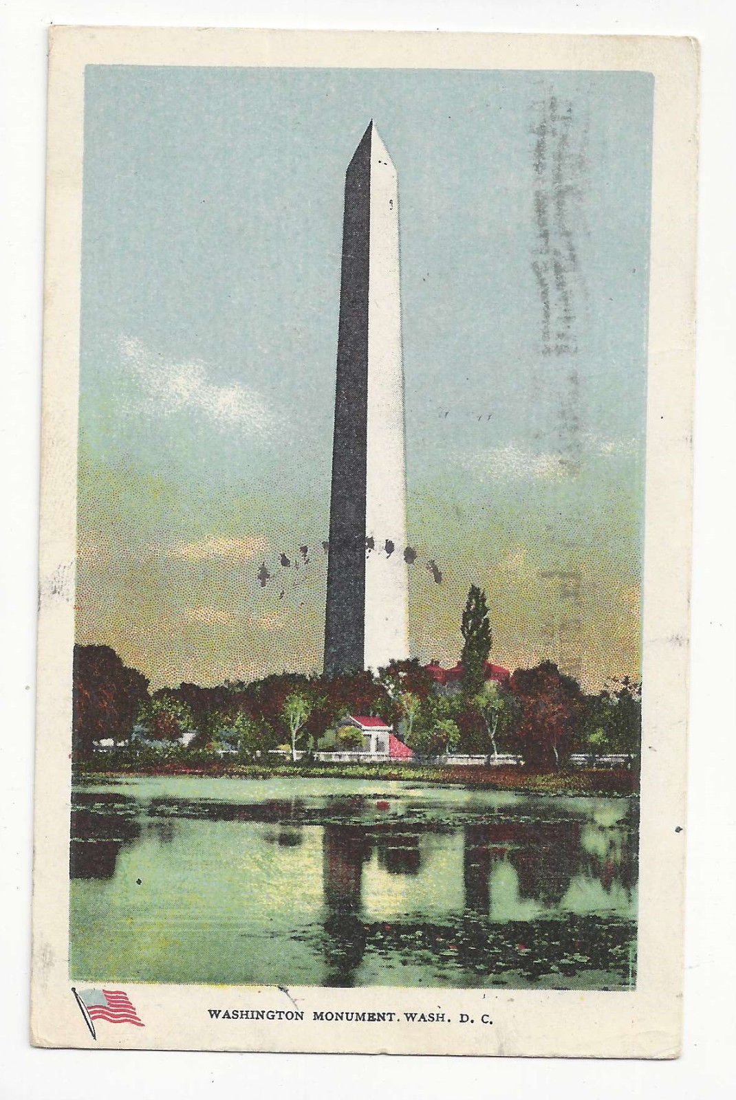 Washington DC Washington Monument Vtg Ullman Postcard 1907