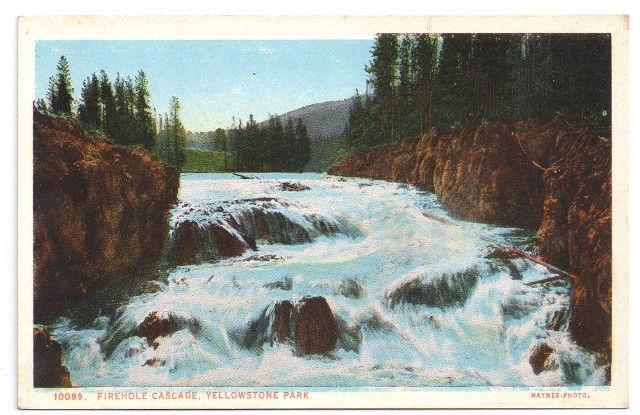 Yellowstone National Park Firehole Cascade Vtg J.E. Haynes Postcard