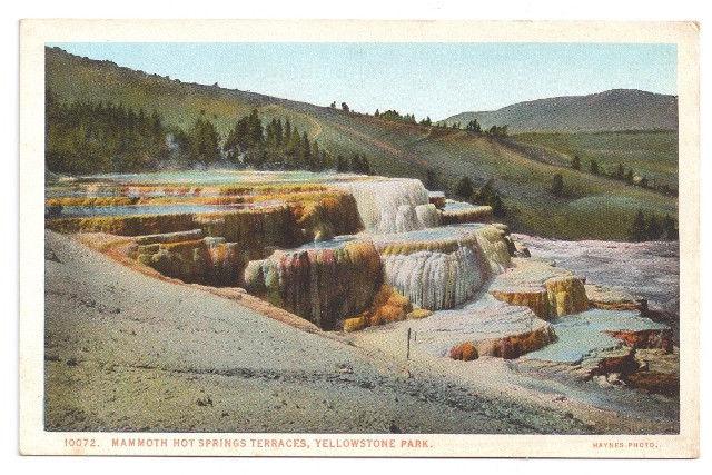 Yellowstone National Park Mammoth Hot Springs Terraces Vtg J.E. Haynes Postcard