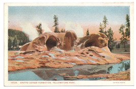 Yellowstone National Park Grotto Geyser Vtg J.E. Haynes Postcard - $4.99