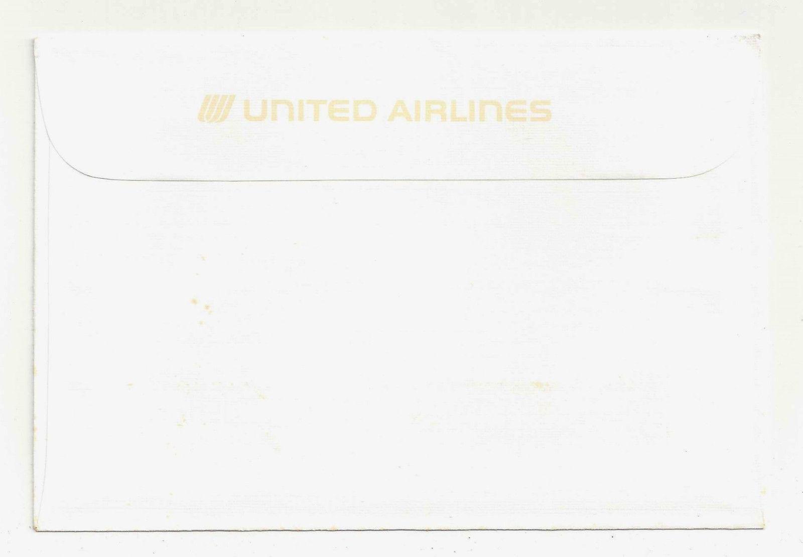 United Airlines Boeing Model 95 Roy Anderson Vtg Ad Postcard w Envelope