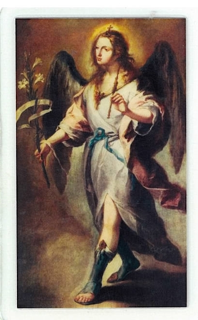 Primary image for Laminated Prayer Card - San Gabriel Arcangel - L300.0087