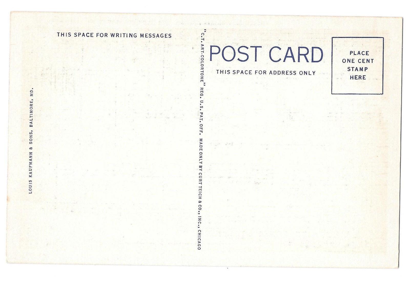 VA Williamsburg Virginia Colony Prison showing Stocks Vtg Linen Postcard