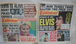 Elvis National Examiner Lot of 2 The Child he hid from the World Elvis i... - $8.95