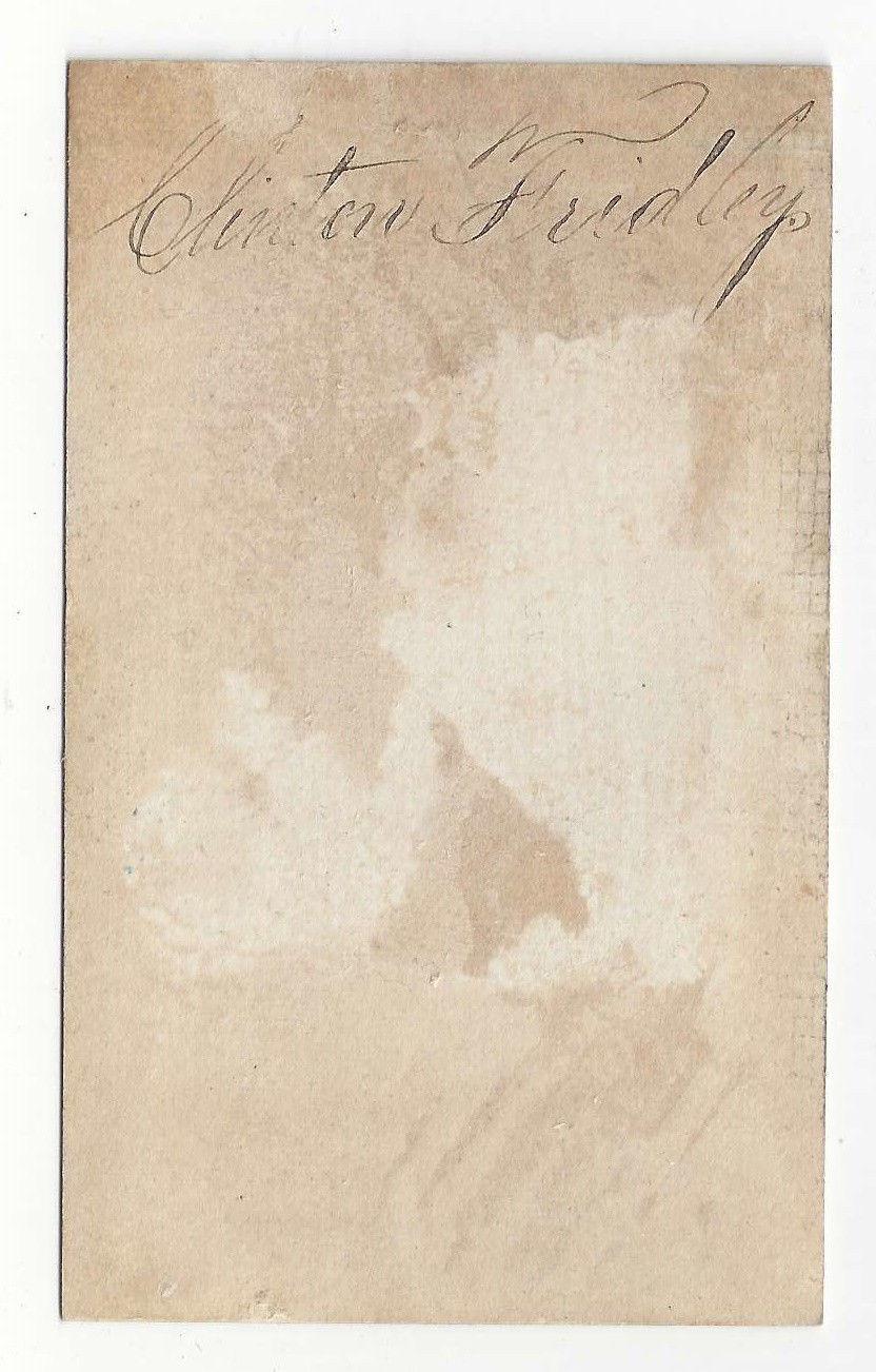 Victorian Token of Esteem from Teacher M S Smith Clinton Fridley 4 X 2.5 Chromo