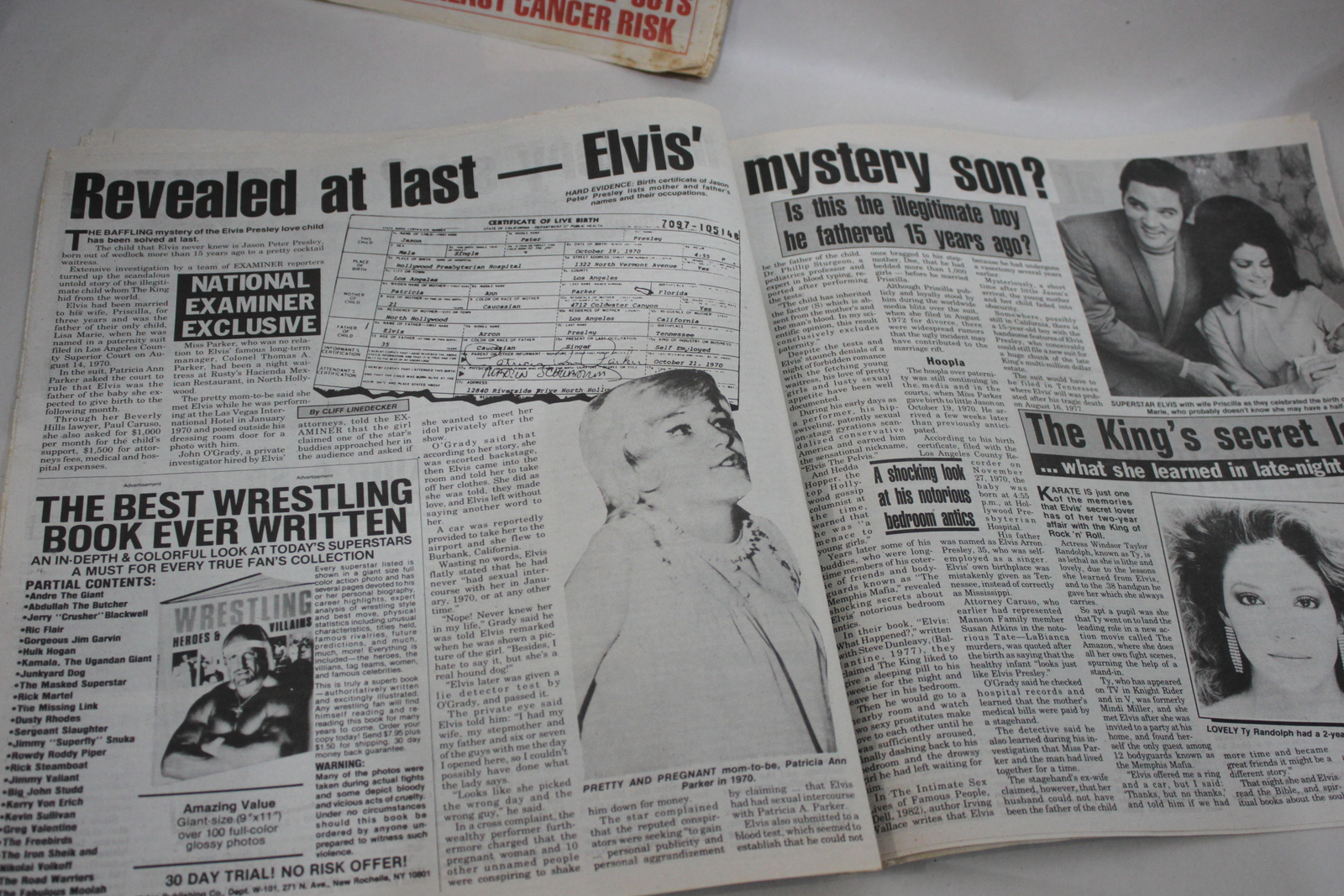 Elvis National Examiner Lot of 2 The Child he hid from the World Elvis is Alive