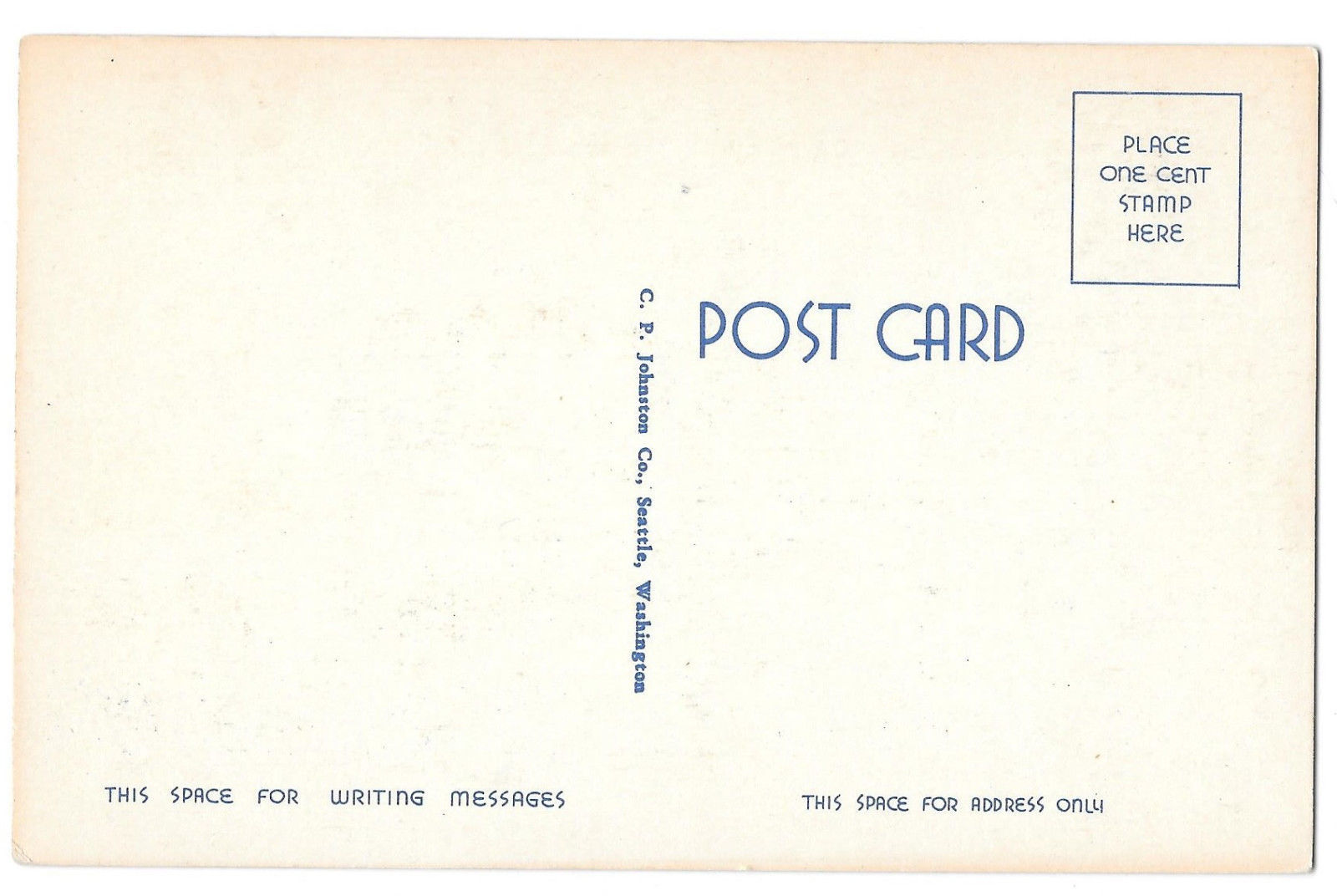 WA Mt. Ranier and Lake Tipsoe Vtg C P Johnston Linen Postcard Washington