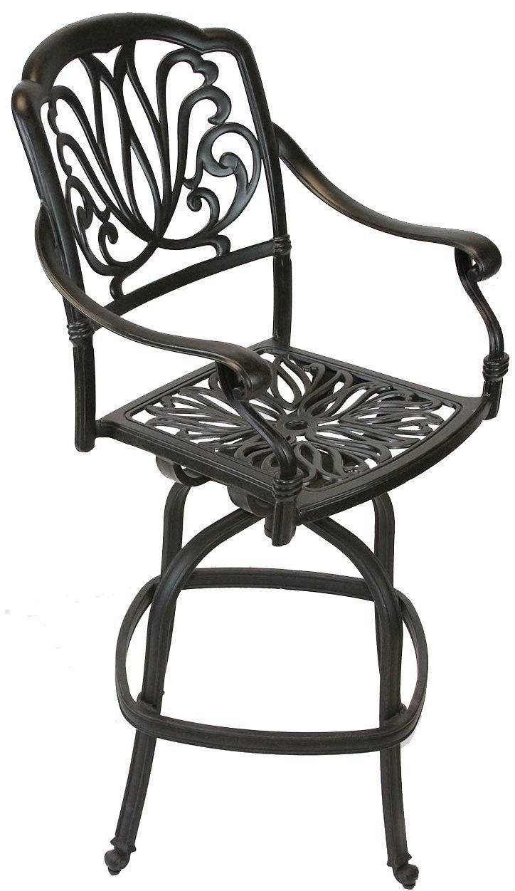 "ELIZABETH OUTDOOR PATIO FURNITURE 5PC SET BAR TABLE 36"" X 36"" CAST ALUMINUM"