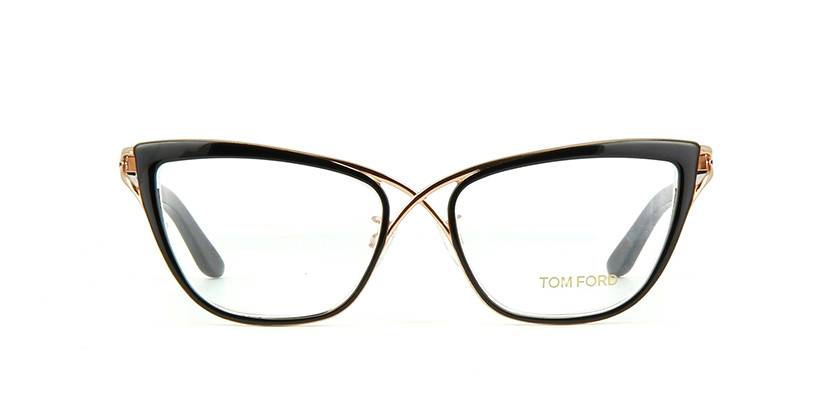 67452ad5e68 NEW AUTHENTIC TOM FORD TF5272 FT5272 005 Black Gold Eyeglass Frame 53mm