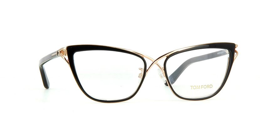 ... NEW AUTHENTIC TOM FORD TF5272 FT5272 005 Black Gold Eyeglass Frame 53mm f3d640bb5ac4