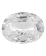 1.00ct 8x6mm Oval White Zircon - $40.00