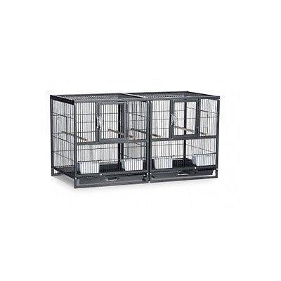 Divided Breeder Cage Bird Canary Parakeet Finch Aviary Perch Stacking Nesting