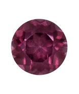 .60ct 5mm Round Rhodolite Garnet From Tanzania - $6.99