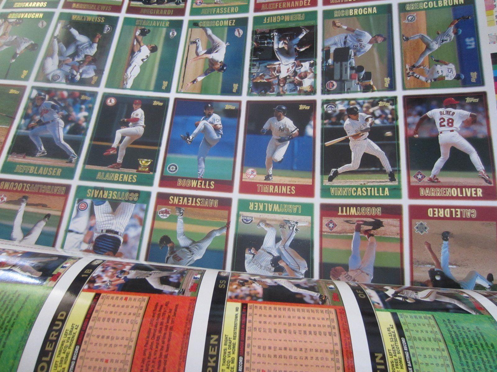 1997 Topps Uncut Major League Baseball Card And 50 Similar Items