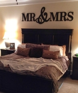 Mr & Mrs Wood Letters, Home Decor,Wood Letters,Bedroom Decor -KING SIZE - $85.00