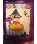 Halloween Potion Bottle Ornament Vintage-look Witch Black Cats Glitter D... - $6.99