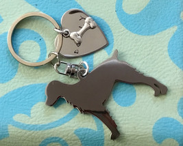 Springer Spaniel Custom Dog Keychain, Your Dog's Name, Memorial Jewelry - $18.00