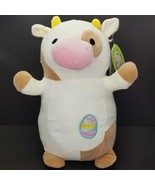 "Squishmallow Drella Cow Easter Egg NWT 14"" Hug Mees - $34.64"