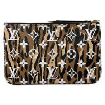 NEW Louis Vuitton Pochette Double Zip Black Jungle Giant Monogram Crossbody Bag image 3