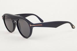 Tom Ford CHRISTOPHER 02 Shiny Black / Gray Sunglasses TF633 001 0633 49mm - $175.42