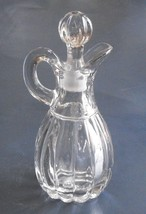 Vintage Imperial Glass Cruet Crystolite Pattern Heisey by Imperial - $6.50