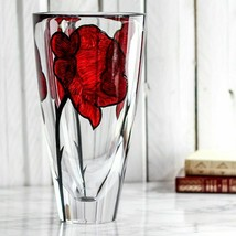 Kosta Boda Glass Tattoo Crystal Vase Made Sweden NEW Gift Box - $247.50