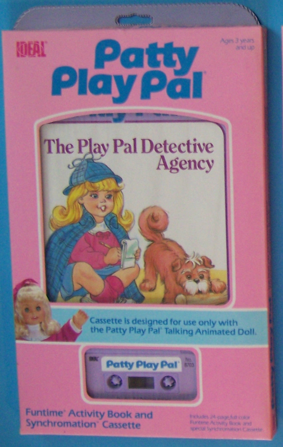 Primary image for 1987 IDEAL TALKING ANIMATED  PATTY PLAY PAL THE PLAYPAL DETECTIVE  BOOK CASSETTE