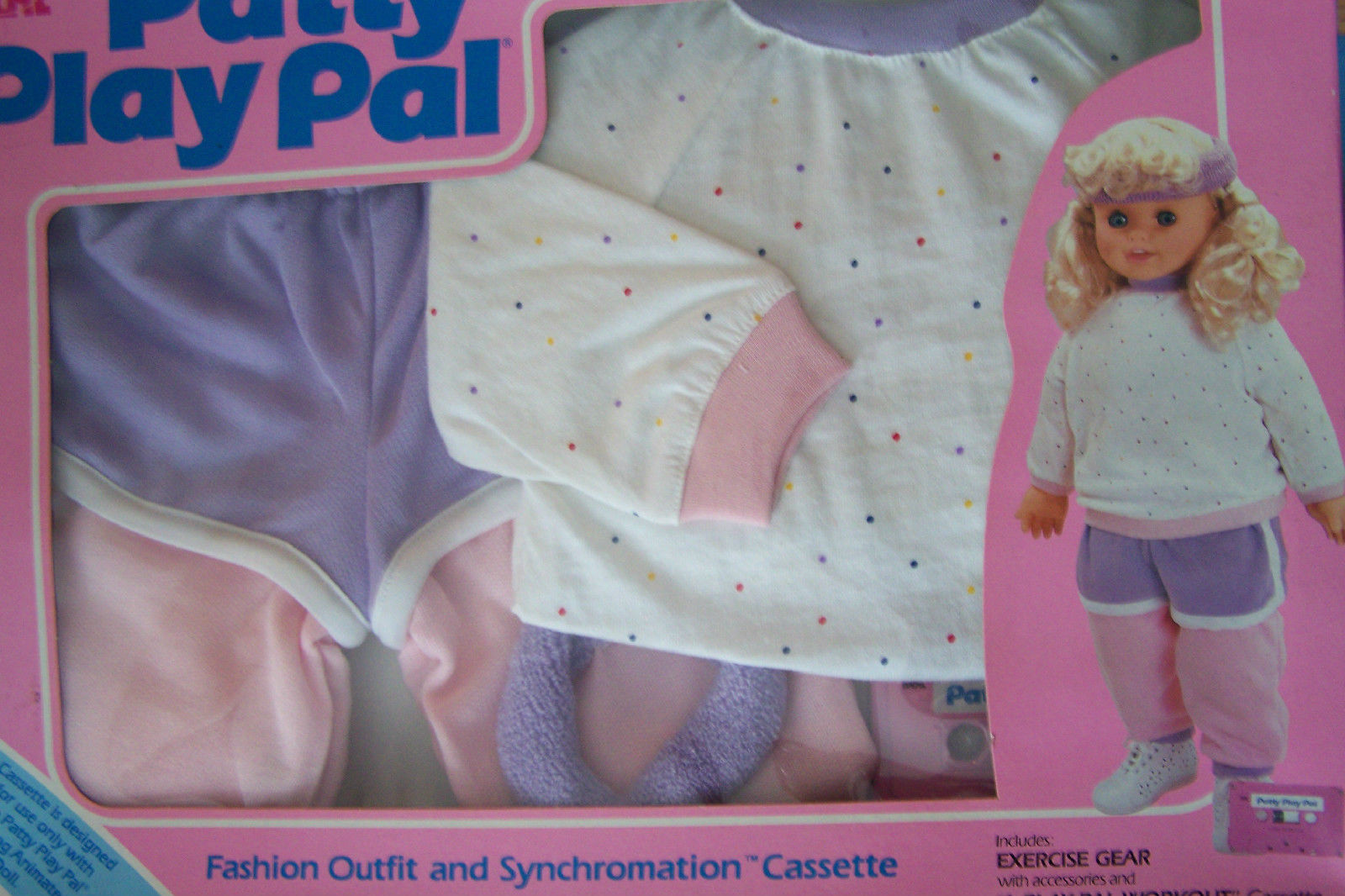 "Primary image for 1987 IDEAL TALKING  24"" PATTY PLAYPAL EXERCISE GEAR  & A PLAYPAL WORKOUT   NRFB"